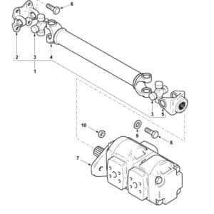 Pump shaft Terex-Fermec 965