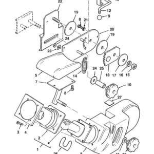 Joystick, control unit Fermec 965