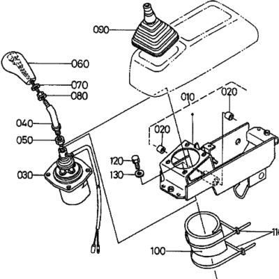 Joystick, Schaltventil, Schalthebel Kubota KX61-2, RG208-61710
