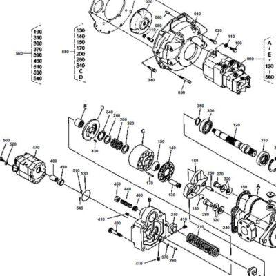 Hydraulikpumpe, Getriebepumpe Kubota KX61-3, RC348-69080.
